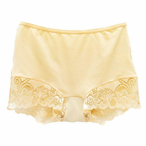 【AJM】MIT輕柔舒適竹炭中腰平口褲(奶油黃) 1