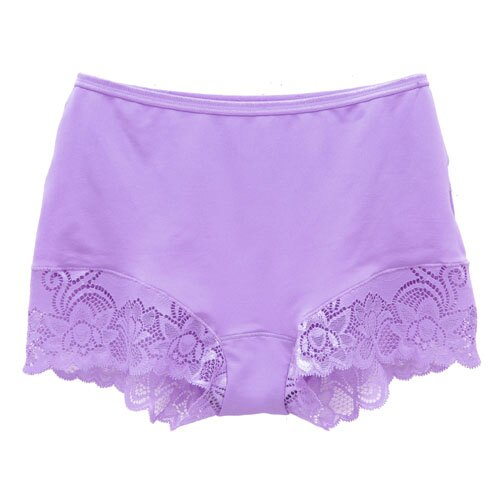 【AJM】MIT輕柔舒適竹炭中腰平口褲(紫) 1