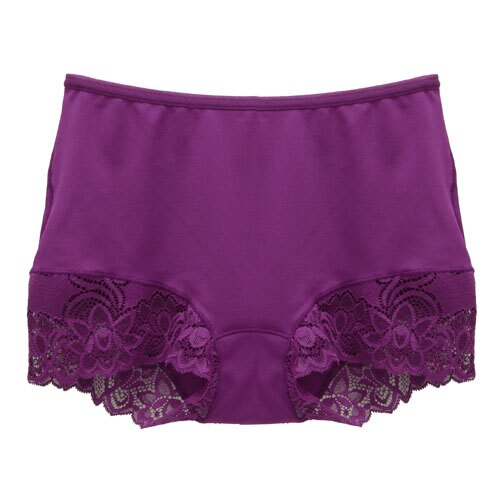 【AJM】MIT輕柔舒適竹炭中腰平口褲(葡萄紫) 1