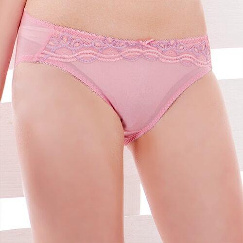 【AJM】繚繞織紋蕾絲三角褲(粉芋色) 0