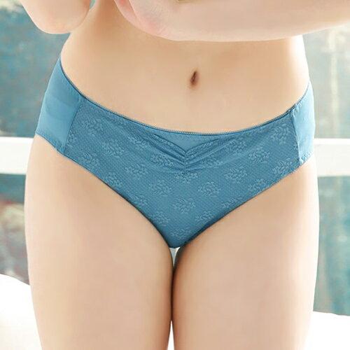 【依夢】魔力美波 峰挺集中系列三角褲(灰藍) 0