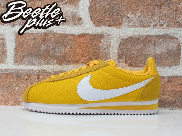 女生 BEETLE NIKE CLASSIC CORTEZ NYLON 亮黃 阿甘鞋 慢跑鞋 749864-717 0