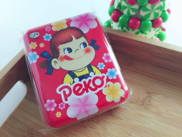 【13本舖】不二家 Peko 方罐牛奶糖 (紅花/粉花)