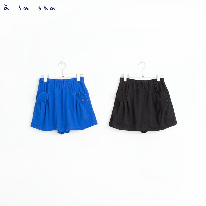 a la sha 貓咪耳朵口袋造型褲裙 1
