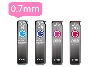 PILOT 百樂0.7mm鉛筆芯 HRF-7G 超G自動鉛筆筆芯/一小筒入{定50}鉛筆替芯
