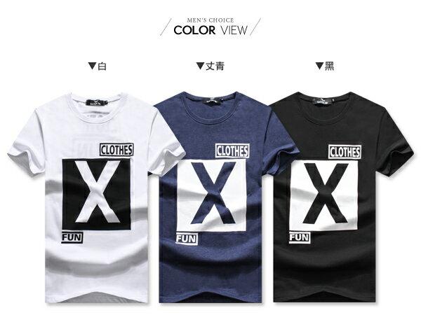 ☆BOY-2☆ 【OE30089】美式潮流X印花短袖T恤 1