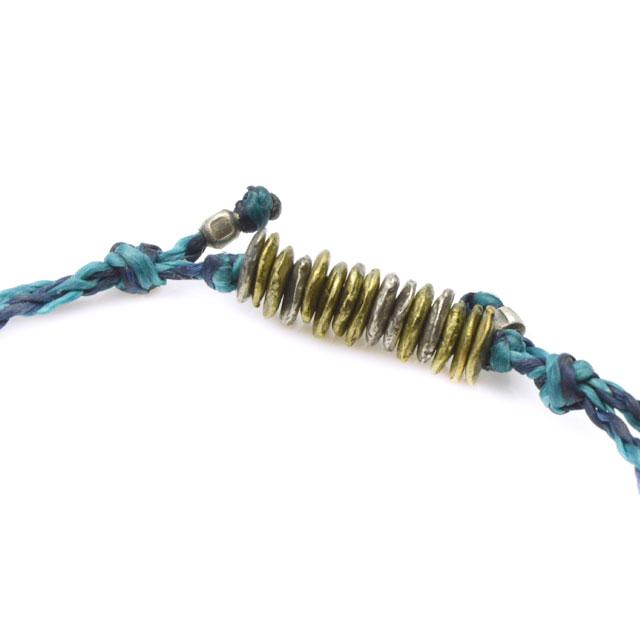 【海外訂購】【amp japan】10 Cent 錢幣藍色蠟繩手環(AMP-14AHK-420BL  0755430000) 2