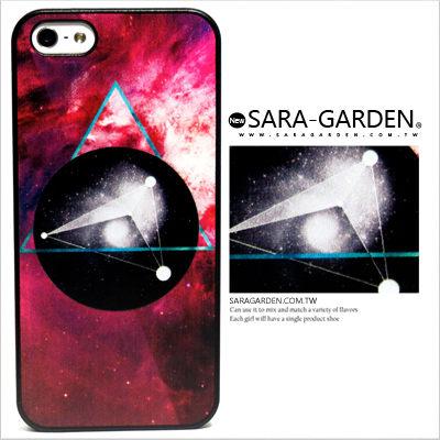 客製 浮雕 炫彩 外太空 蟲洞 幾何三角 iPhone 6 6S Plus 5 5S 手機殼 磨砂殼 Sara Garden【A1125010】