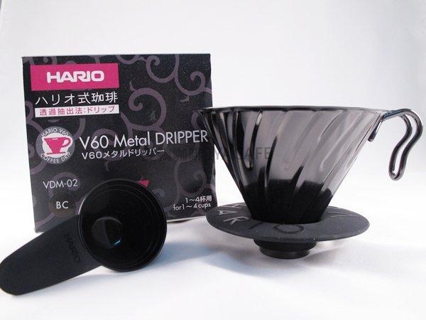 《愛鴨咖啡》Hario VDM-02BC 不銹鋼 黑金色 濾杯 1-4杯份
