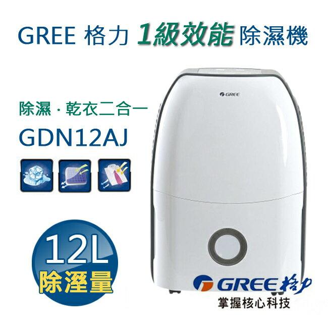 【現貨】GREE 格力 1級效能除濕機12公升 GDN12AJ - 限時優惠好康折扣