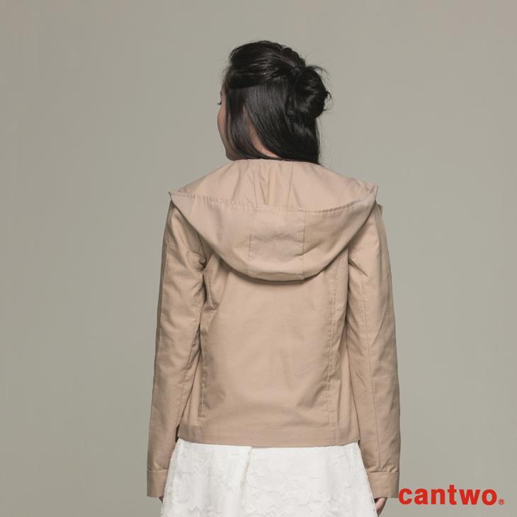 cantwo微光澤連帽短版風衣外套(共三色) 3