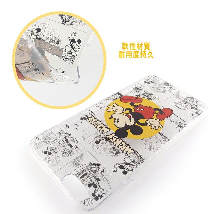 【Disney】iPhone6plus彩繪90週年透明保護軟套-90週年米奇 2