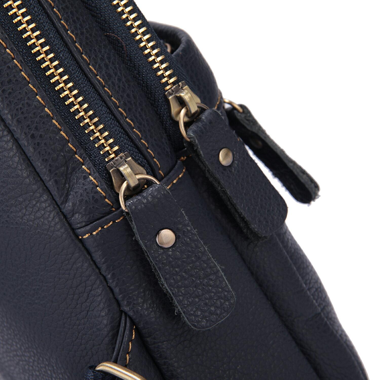 【BEIBAOBAO】東區潮流真皮個性胸前包(時尚藍 共兩色) 5