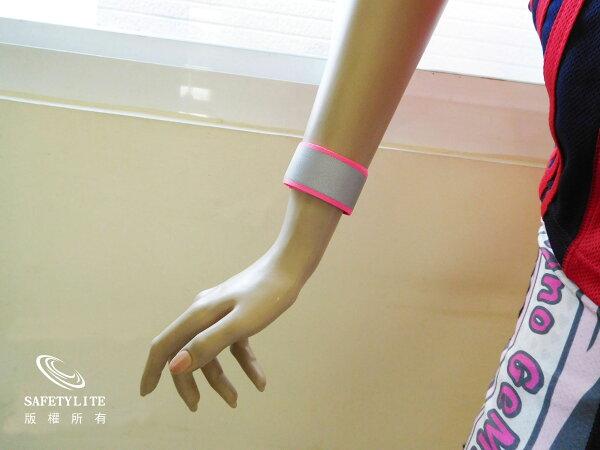 【safetylite安心生活館】一拍即合反光織帶手腕帶/迷人閃耀/男女皆適合/街跑百搭-3M Scotchlite™反光