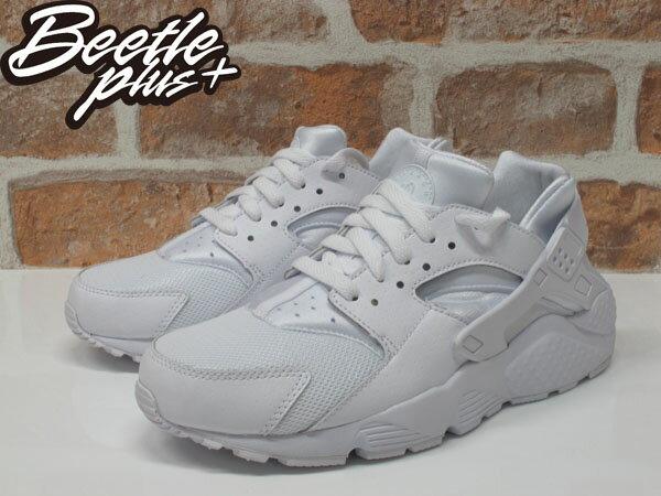 女鞋 BEETLE NIKE HUARACHE RUN GS 全白 白武士 復古 運動鞋 慢跑鞋 654275-110 1
