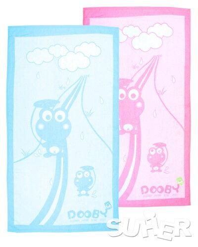 『121婦嬰用品館』大眼蛙 長方型純棉浴巾 0