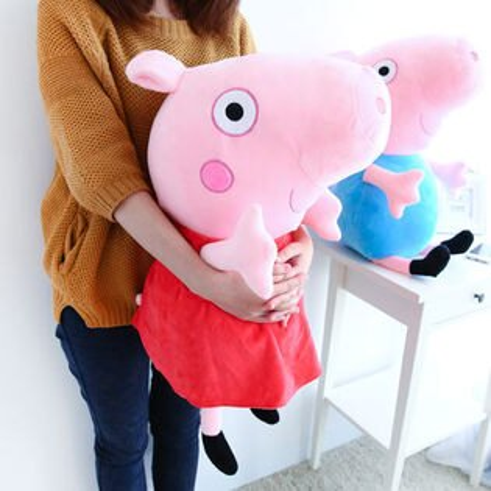 正版粉紅豬小妹娃娃 65cm 英國粉紅豬 Peppa Pig 佩佩豬 喬治 布偶 玩偶 抱枕 玩具 禮物【N200267】
