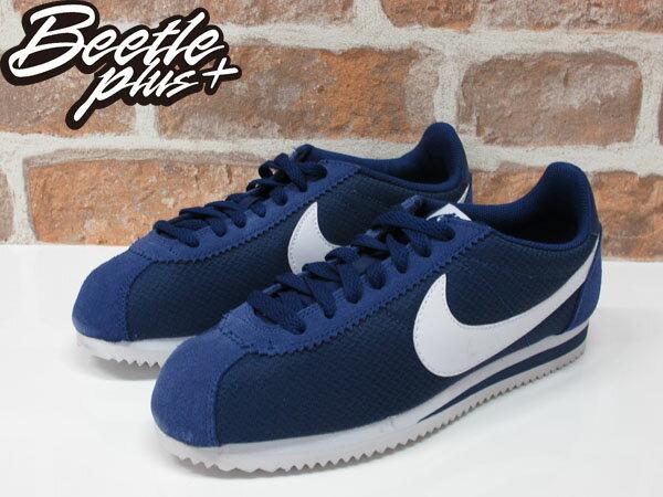 女生 BEETLE NIKE CLASSIC CORTEZ NYLON 深藍 白勾 阿甘鞋 慢跑鞋 749864-414 1