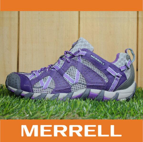 【出清7折!】萬特戶外運動 MERRELL WATERPRO MAIPO 水陸兩用鞋 女款 低筒健行鞋 快乾透氣 深紫