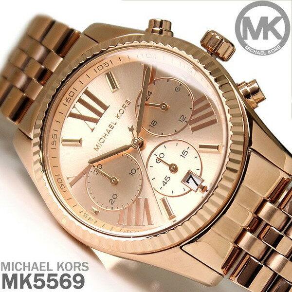 美國Outlet正品代購 MichaelKors MK  男女中性玫瑰金鋼帶錶 手錶 MK5569 0