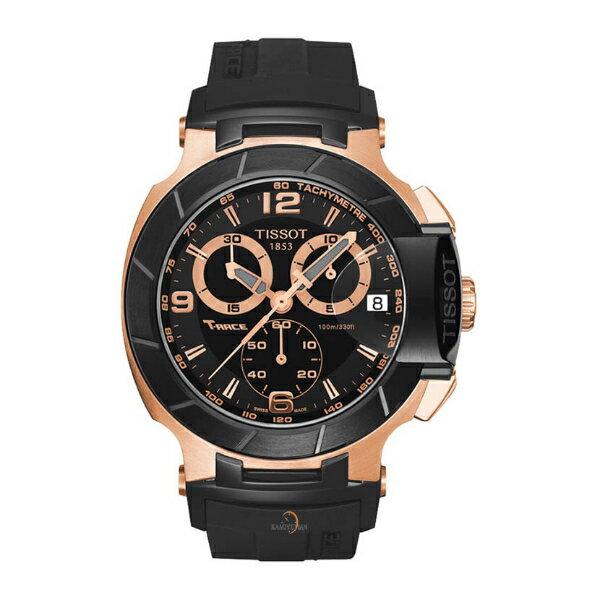 TISSOT天梭T0484172705706賽車系列炫玫瑰金黑計時腕錶/黑面45.3mm