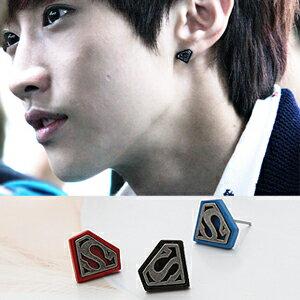B1A4 振永 同款超人符號標記S耳釘耳環 (單支價)