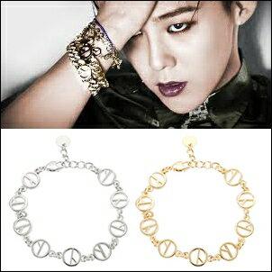 BIGBANG GD 權志龍 同款韓國뉴클리어 COUP D'ETAT標誌手鍊