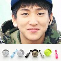   Star World。Earring    B1A4 BARO 同款棒球&球棒造型耳釘耳環 (一對)