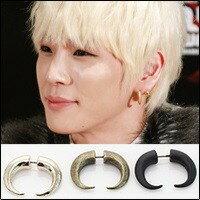 | Star World。Earring | B.A.P 力燦 同款雙頭牛角造型耳釘耳環 (單支價)