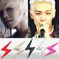 BIGBANG 權志龍 GD & TOP 閃電銀針耳釘耳環 (單支價)