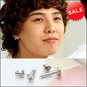 【 限量特價】 BIGBANG 權志龍 同款螺絲釘造型耳釘耳環 (單支價)