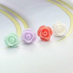 BIGBANG 權志龍 同款簡潔玫瑰耳釘耳環 (單支價)