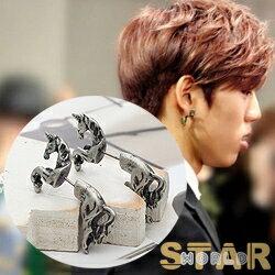 | Star World。Earring | INFINITE 東雨 同款獨特麒麟造型耳釘耳環 (單支價)