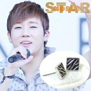 | Star World。Earring | INFINITE 金聖圭 同款波光粼粼方形耳釘耳環 (單支價)