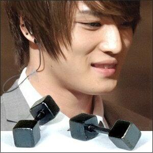 | Star World。Piercing |  東方神起 JYJ 金在中 同款雙方頭啞鈴穿刺耳環 (單支價)
