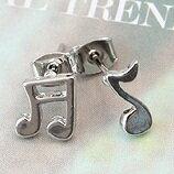 | Star World。Earring |  TVXQ 東方神起 允浩 同款簡約風格音符耳釘耳環(一對)