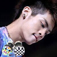 | Star World。Piercing |   SHINee 鐘鉉 同款馬賽克條紋穿刺耳環 (單支價)