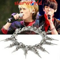 | Star World。Bracelets |  SHINee 鐘鉉 KEY 同款配復古吊墜式尖錐鈎扣手鍊