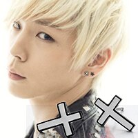 | Star World。Earring |  B.A.P 力燦 同款黑邊白十字鈦鋼耳釘耳環 (單支價)