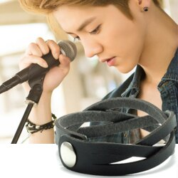| Star World。Bracelets |  EXO Luhan Sehun 同款簡約編織皮革手環