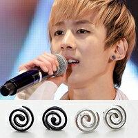 | Star World。Earring |  TEEN TOP 天地 同款鏤空漩渦造型耳釘耳環 (單支價)