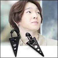 | Star World。Earring |  WINNER 南太鉉 同款長三角孔造型圓環耳扣耳環 (單支價)