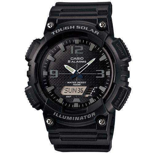 CASIO AQ-S810W-1A2玩酷時代太陽能雙顯流行腕錶/黑46.6mm