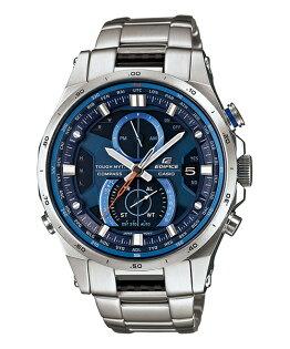 CASIO EDIFICE EQW-A1200D-2A旗艦電波賽車腕錶/藍面45mm