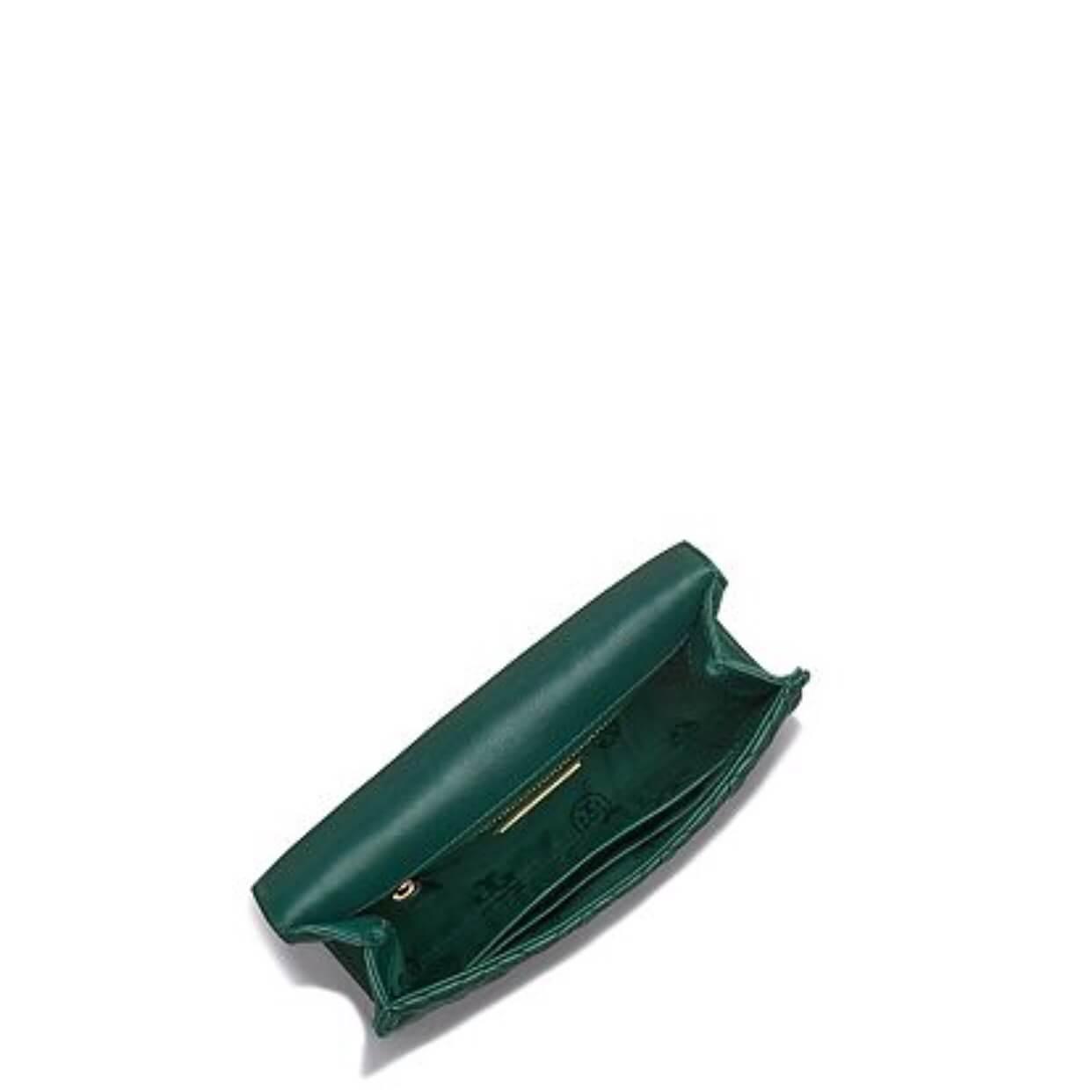 【Tory Burch】羊皮菱格質感小鍊包(黑/墨綠/粉) 8