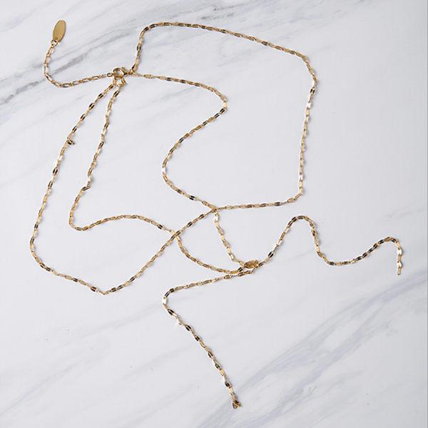 PS Mall 歐美外貿訂制款 歐美簡約百搭性感手工Y字型雙層短款項鍊 【G2238】