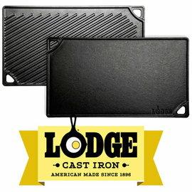 【鄉野情戶外用品店】 Lodge |美國|  兩用雙面長型平底煎鍋/牛排煎盤 荷蘭鍋 鑄鐵鍋/LDP3