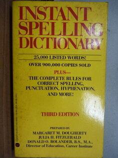 【書寶二手書T4/語言學習_IBG】Instant Spelling Dictionary_Margaret M