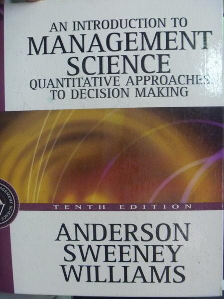 ~書寶 書T5/大學理工醫_QLC~Management Science_3 e_Denn