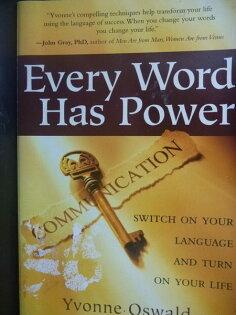 【書寶二手書T6/勵志_GGU】Every Word Has Power_Yvonne Oswald, Yvonne O